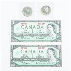 Group (1867-1967) Coins and Notes - 2x Centennial