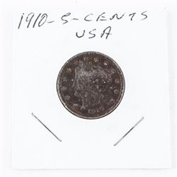 1910 USA 5 cents Coin (ME)