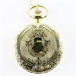 Pocket Watch with Fob Gold Tone