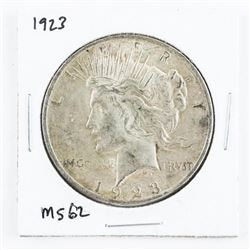 1923 US Peace Dollar MS62