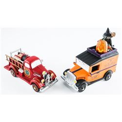 Department 56 Collectibles Lot (2) Trucks Village