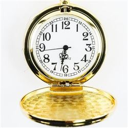 (Gold Tone) Pocket Watch with FOB