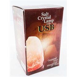 Crystal Salt Lamp with USB Natural, Himalayan.