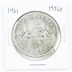1961 Canada Silver Dollar MS60.