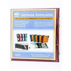 Uni Safe 3-Ring Storage Binder with Sleeve.