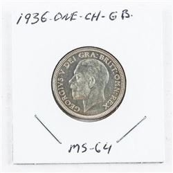 1936 ONE - CH - Great Britain (1 Shilling) MS64 (G