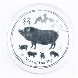 .999 Fine Silver $2.00 Coin 'Year of the Pig' 2oz