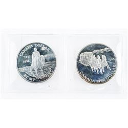 Lot (2) 925 Sterling Silver 1.00 Coins