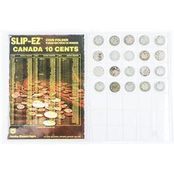 Collection (20) Canada 925 Silver 10 Cent Coins: V