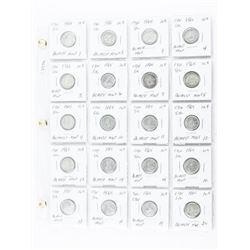Estate Lot (20) CANADA Silver 10 Cents 1965- 2x2's