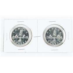 Lot (2) 1953 Canada Silver Dollars (SWL) and (RWL)