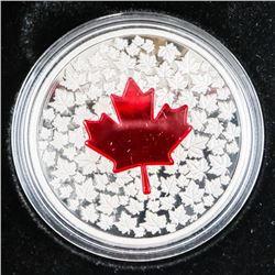 .9999 Fine Silver $20.00 Coin 'Maple Leaf Impressi