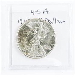 USA Silver 50 cent 1943 Walking Liberty MS63+