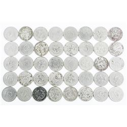 Lot (40) 1904 5 Cent Coins