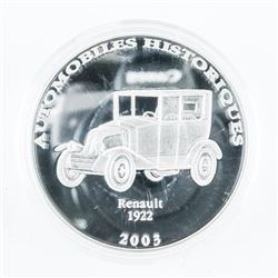 .9999 Fine Silver 2003 10 Francs Proof Coin Histor