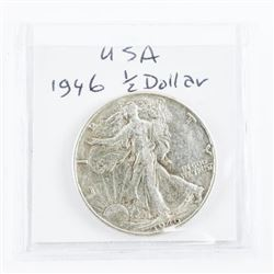USA Silver 50 cent 1946 (EF)