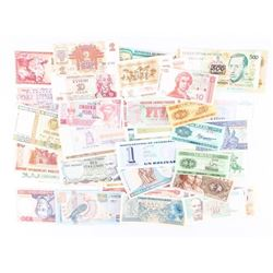 Grouping (50) Banknotes From Approx 50 Countries