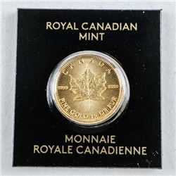 .9999 Fine Pure Gold Maple Leaf Coin, Serialized