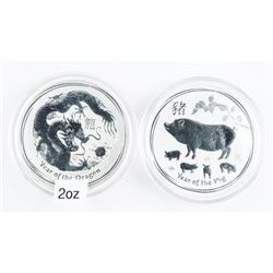 Lot (2) Collector Bullion 'Year of the Dragon' and