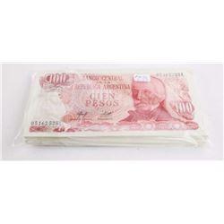 Bank of Argentina Brick (100) x 100 Pesos UNC