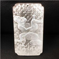 Tibetan Silver Semease Asian Marked Bullion Bar