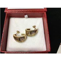 Pair of Italian 14K Gold Vintage Bumble bee Earrings