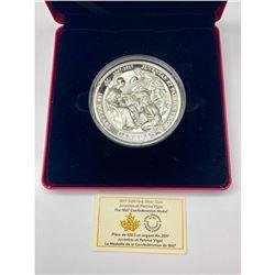 2017 $100 Fine Silver Coin - 1867 Confederation Medal