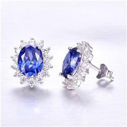 Blue 3ct Tanzanite Earrings - Luxury Kate Princess