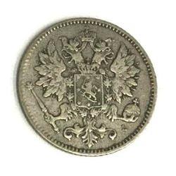 Finland under Russia Silver 25 Pennia 1899