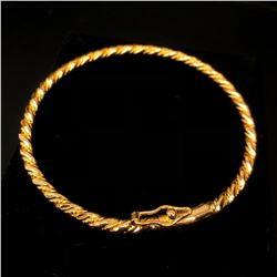 Ladies 10k Yellow Gold Plated Rope Braid Bracelet