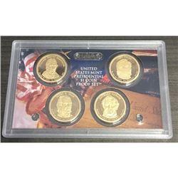 2009 PROOF US MINT PRESIDENTIAL $1 COIN 4 ea Harrison Tyler Polk Taylor