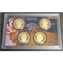 2007 San Francisco Presidential Dollar Proof 4 $1 Coin Set United States Mint