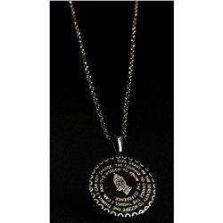 Silver Serenity Prayer Pendant Necklace.