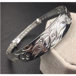 Dragon & Phoenix Fine Jewelry 925 Silver Bangle