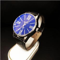 Large Men's Quartz 319 Yazole Leather Band Watch