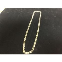 Mens 10K Gold Marry Neck Link Solid Gold Chain