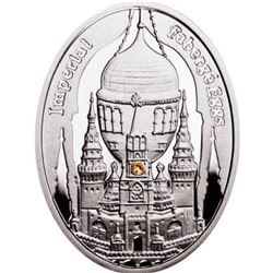 """2012 Poland Mint """"Moscow Kremlin"""" Imperial Faberge Egg - Proof Silver Coin w/ Swarovski Crystals"""