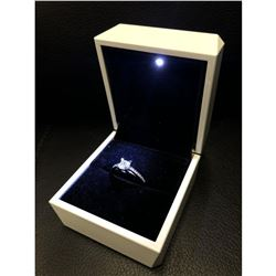Ladies Semi-Precious CZ Diamond Mounted On 925 Sterling Silver Ring