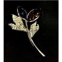 Contemporary, designer branch motif brooch.