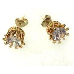 Wedding Stud Earrings 18 Karat Gold Plated