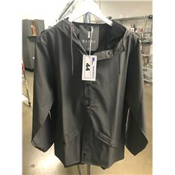 NEW WOMENS RAINS CHARCOAL EXTRA SMALL/SMALL SIZE COAT