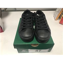 NEW LACOSTE BLACK SHOES SIZE CHILDS 13