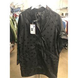 NEW WOMENS ICHI BLACK/BLACK POLKA-DOT SMALL SIZE COAT