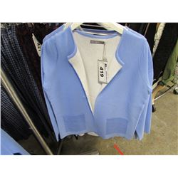 NEW B.YOUNG CORNFLOWER BLUE CARDIGAN SIZE LARGE