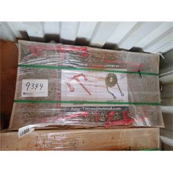 """GREATBEAR Ratchet Binder & Chains (5) 9200lb binders, (10) 3/8"""" 20' chains (container)"""