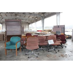 desks, cabinets, tables, bookcase, chairs, Selling Offsite: Located in Guntersville, AL
