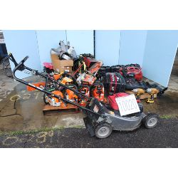 outboard motor, lawn mower, rotary hammer, impact wrench angle grinder, chain saws, hose reel, batte