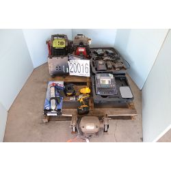 bench grinder, impact wrench, labeler, water pump, oxygen/acetylene regulator, Selling Offsite: Loca