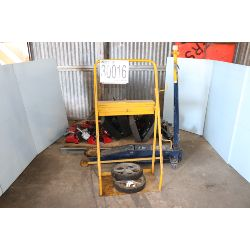 utility cart, hammer drills, impact wrenches, diagnostic monitor, hydraulic jack, Selling Offsite: L