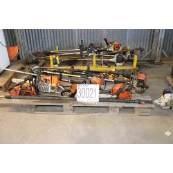 grass trimmers, chain saws, blowers, pole saw, Selling Offsite: Located in Birmingham, AL